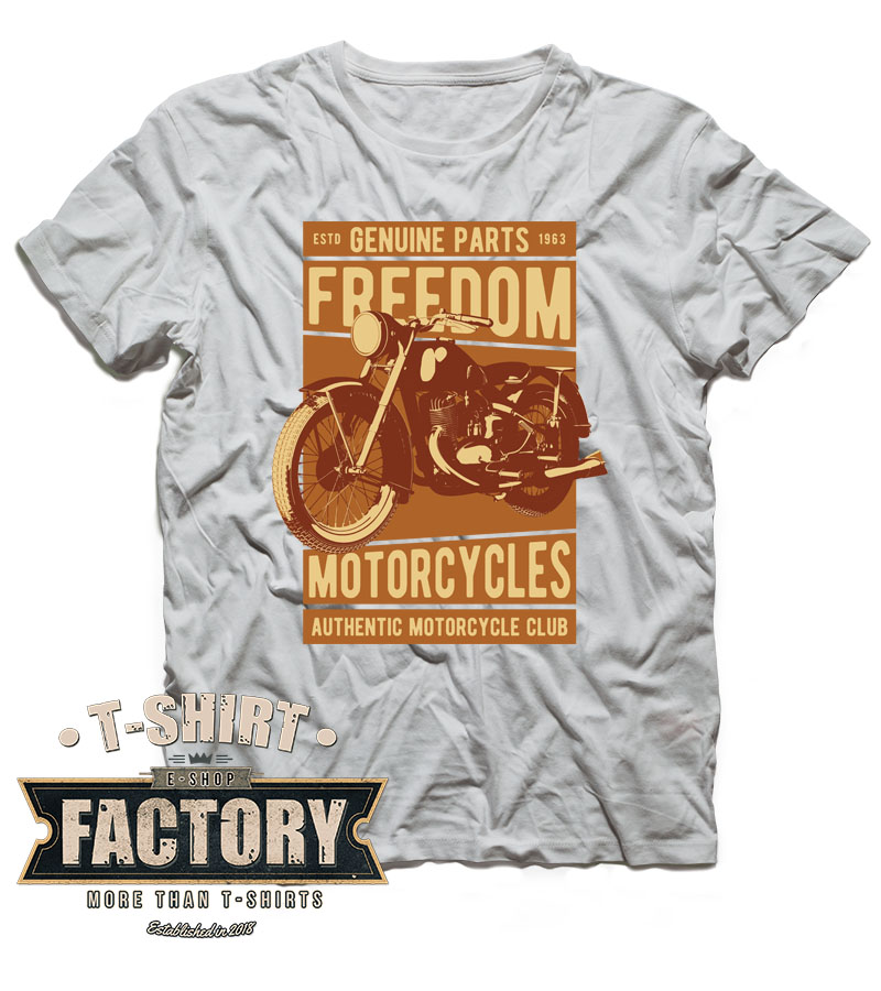 Tričko Freedom motorcycles