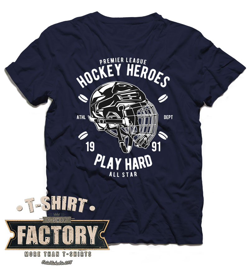 Tričko Hockey heroes - play hard
