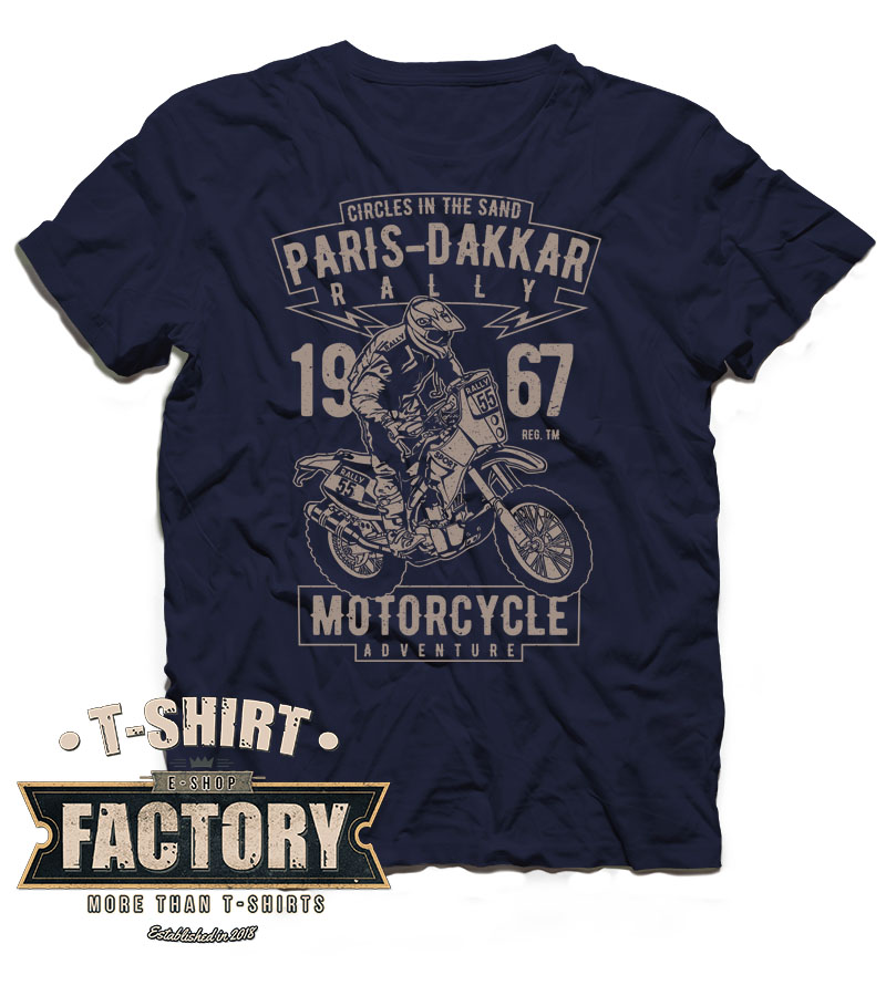 Tričko Paris Dakkar Rally Motorcycle