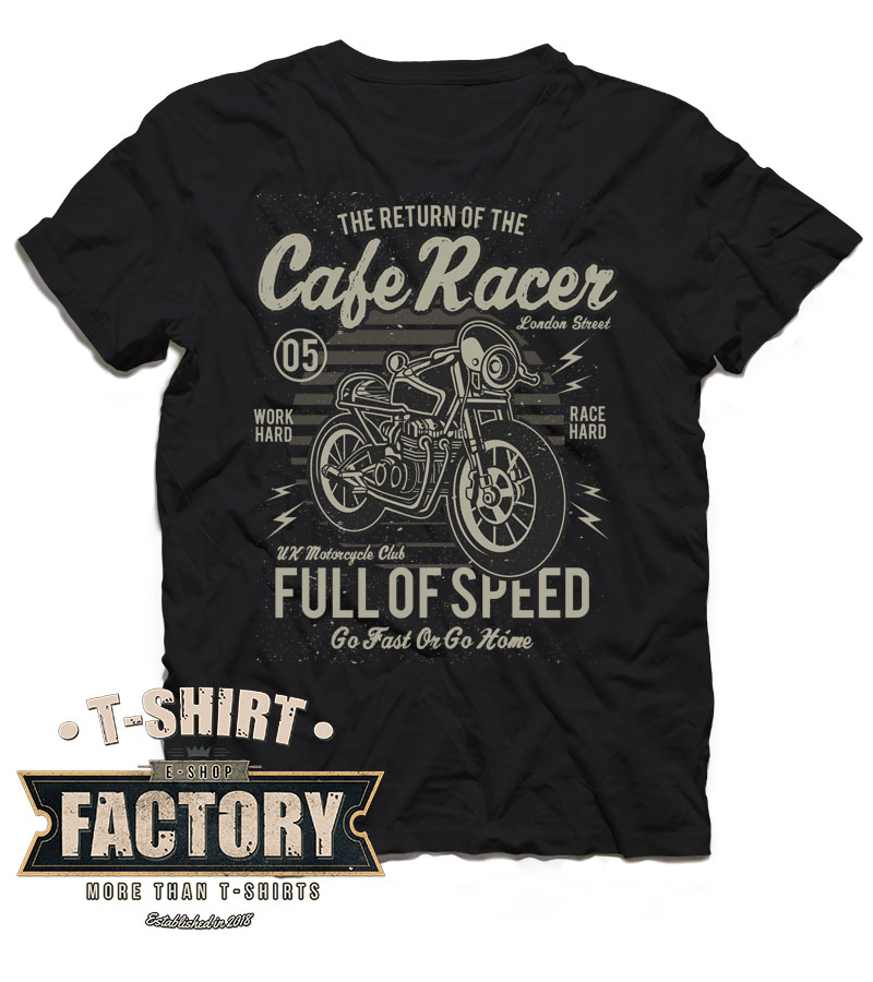 Tričko Cafe Racer- Full of speed