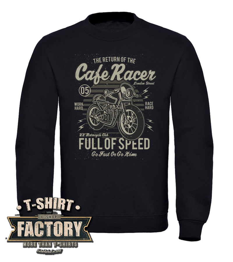 Mikina Cafe Racer- Full of speed